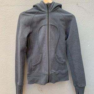 LULULEMON 6 scuba grey jacket